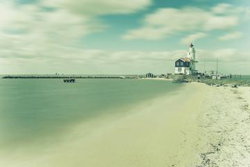 Vintage Landscape with Lighthouse