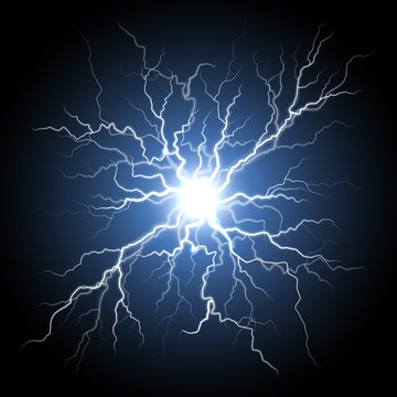 Human nerve or neural cells system, lightning flash light