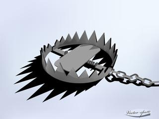 vector design of metal trap