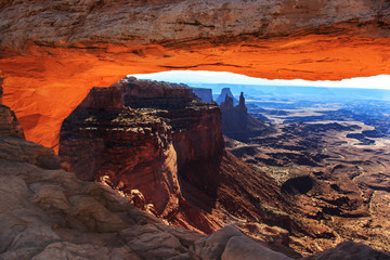 Mesa Arch in Canyonland National Park.