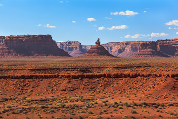 Erosion in the Valley of the Gods