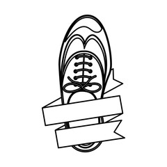 Male shoes icon. Cloth fashion style wear and shop theme. Isolated design. Vector illustration