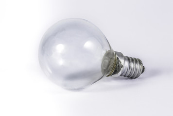 Halogen eco light with white background, for thinking the idea creative design.