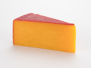 Cheese Wedge on White