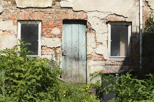 Abbruchreifes, Verfallenes Haus Aus Stein , Ruine