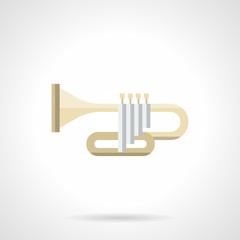 Brass band instruments flat color vector icon
