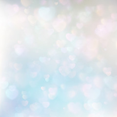 Defocused hearts bokeh background. EPS 10