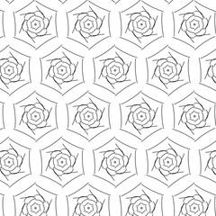 Primitive geometria sacra retro pattern with lines and circles.