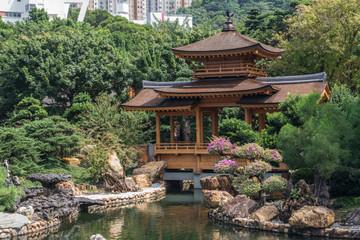 Pavilion Bridge in Nan Lian Garden, Hong Kong