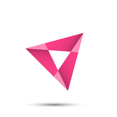 Triangle arrow shape
