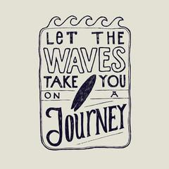 let the vas take you on a journey surfing lettering inside the wave frame.
