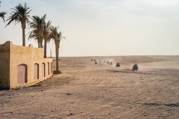 HURGHADA, EGYPT:  Quad bikes safari in the desert near Hurghada, Egypt. Day photos.