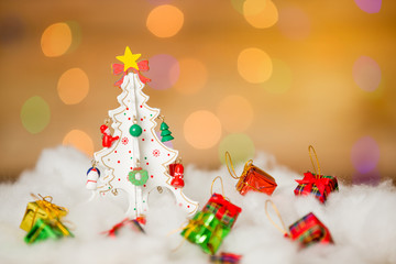 merry christmas background with bokeh