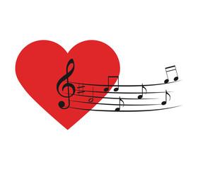 Music Love icons set.