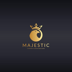 Majestic logo. Royal eagle logotype