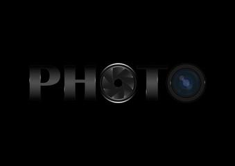 Photo word design