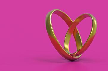 Stylized heart, 3d rendering