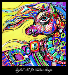original contemporary digital abstract painting artwork to print
