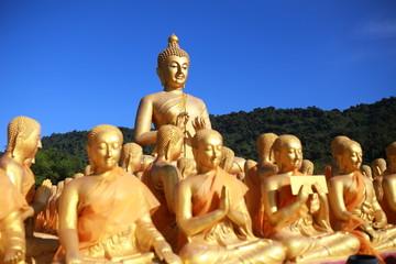 Big Buddha in Buddhism Memorial Park Public Templel  Prachinburi Thailand