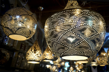 The metal oriental lamp .