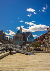 Long Wharf and Custom House and Financial District of Boston