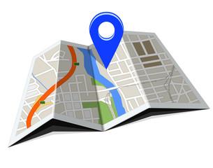 Fototapeta GPS / nawigacja / mapa obraz