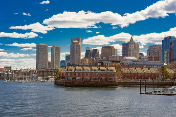 Long Wharf with Customhouse Block in Financial District in Boston