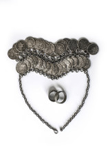 Coin Jewelry in Shape of Heart with Wedding Rings