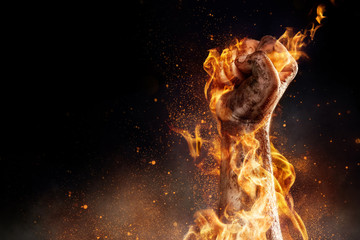 Canvas Prints Fire / Flame Power in hands