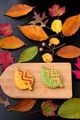Autumn homemade  cookies.