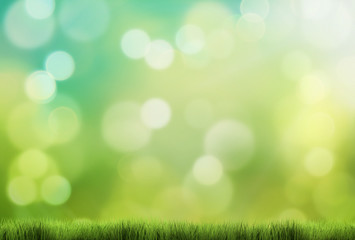 spring background 3d render green grass