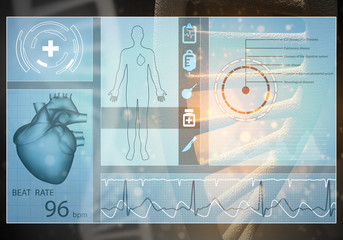 Medicine user interface, 3D rendering