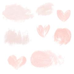 Light pink pastel acrylic brush strokes, delicate textures for logo, decoration, wedding invitation