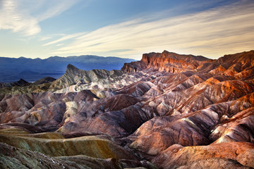 Zabruski Point Manly Beacon Death Valley National Park Californi