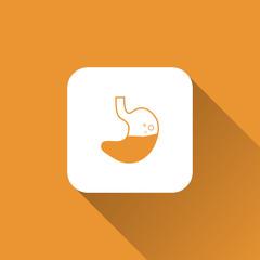 stomach sign. icon design