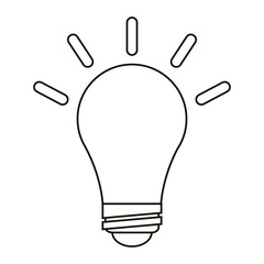 bulb idea innovation creative outline vector illustration eps 10