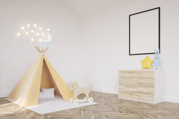 Baby's room with a tent