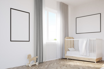 Corner of baby's room with a crib