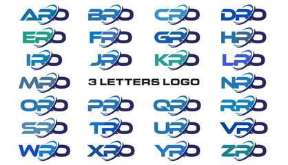 3 letters modern generic swoosh logo ARO, BRO, CRO, DRO, ERO, FRO, GRO, HRO, IRO, JRO, KRO, LRO, MRO, NRO, ORO, PRO, QRO, RRO, SRO, TRO, URO, VRO, WRO, XRO, YRO, ZRO
