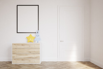 Baby's room with drawers and hare