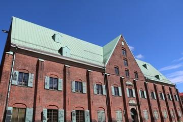 Red brick house the Kronhuset in Gothenburg, Sweden Scandinavia