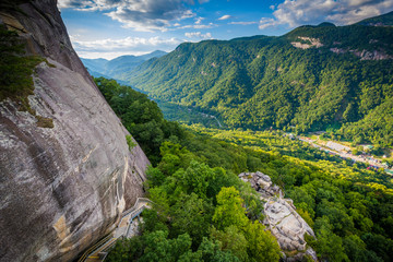 View of mountains from Chimney Rock State Park, North Carolina.