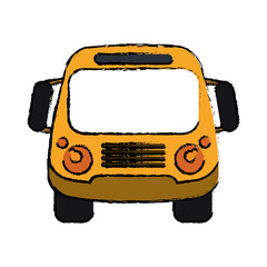 school bus student transport sketch vector ilustration eps 10