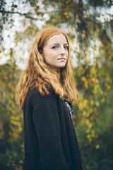 Sweden, Portrait of girl (16-17)