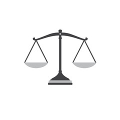 Flat Design Of Empty Law Scale