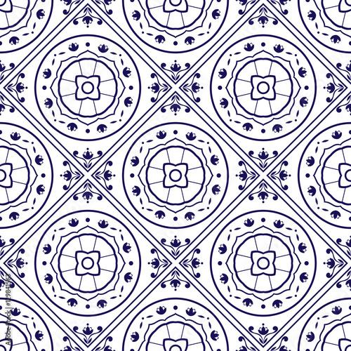 Portuguese tiles pattern vector with diagonal blue indigo and portuguese tiles pattern vector with diagonal blue indigo and white ornaments portugal azulejo mexican voltagebd Gallery