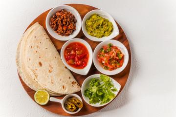 タコスセット メキシコ料理  Mexican food tacos