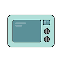 Microwave oven with timer vector illustration