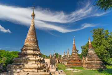 Old pagodas at Inwa ancient city, Mandalay, Myanmar
