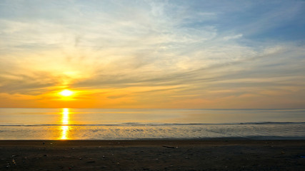 Beautiful moody sunrise near the beach